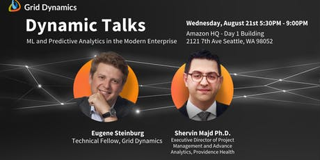 "Dynamic Talks: Seattle/Redmond ""ML and Predictive Analytics in the Modern Enterprise"" tickets"