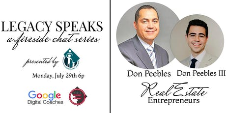 Legacy Speaks series with Real Estate Mogul Don Peebles and Don Peebles III tickets