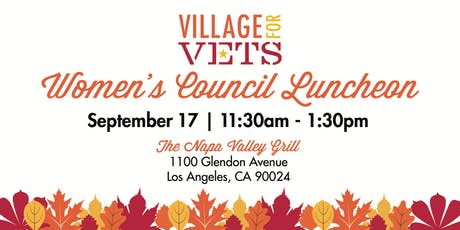 Village for Vets Women's Council Luncheon tickets