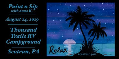 "Paint n Sip- ""Relax"" on wood"