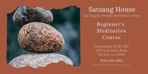 Beginner's Meditation Course-Saturday Mornings at Satsang House