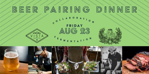 Beer Pairing Dinner: Vista Brewing & Mum Foods Chef Collaboration