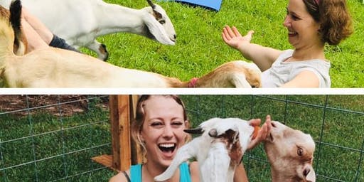 Class is FULL! GOAT YOGA