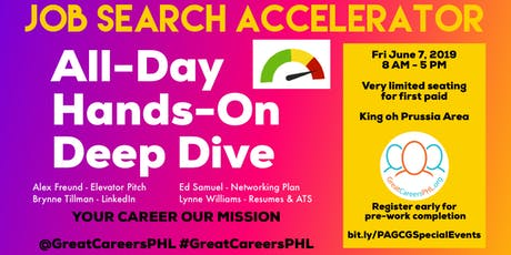 Job Search Accelerator All Day Hands On Deep Dive tickets