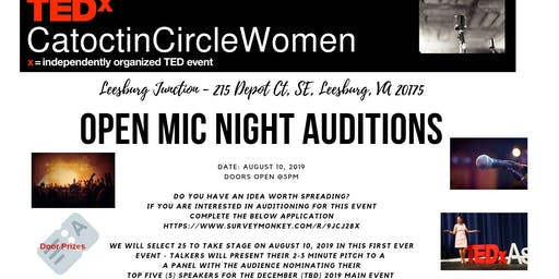 TEDxCatoctinCircleWomen Open Mic Night Auditions