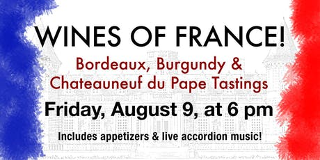 Wines of France Wine Tasting tickets