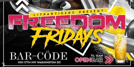 FREEDOM FRIDAY @ BARCODE  tickets