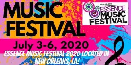 2020 Essence Music Festival 2020 ESSENCE MUSIC FESTIVAL ROOMS  $75 EARLY BIRD DEPOSITS Until
