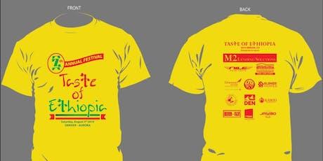Taste of Ethiopia Festival Souvenir T-Shirts Pre-Order! tickets