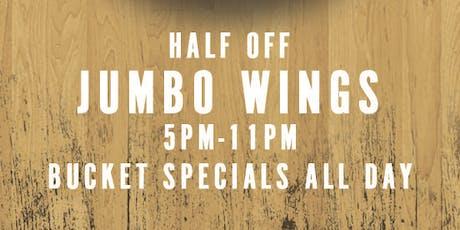 Jumbo Wings Monday tickets