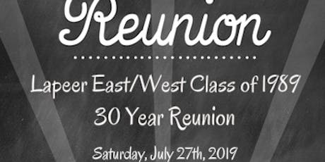 Lapeer East/West 30 Year Class Reunion tickets