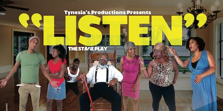 """LISTEN"" - the stage play tickets"