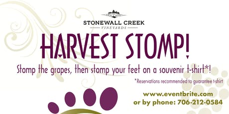 Harvest Stomp 2019 at Stonewall Creek Vineyards tickets