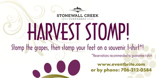 Harvest Stomp 2019 at Stonewall Creek Vineyards