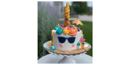 Beach Unicorn Cake Workshop
