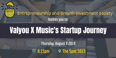 EGIS x Valyou X Music: Learn about Valyou X Music's Startup Journey tickets