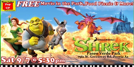A Peoria FREE Movie Night, Food Truck Picnic & MORE! Sat 9/7pm (Shrek!) tickets