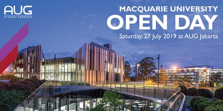 AUG x Macquarie University Open Day tickets