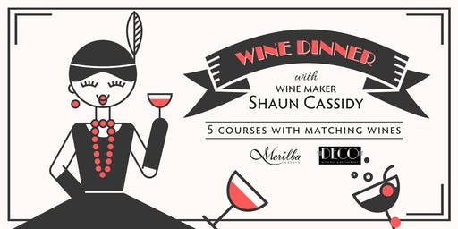 Merilba Estate Wine Dinner with wine maker Shaun Cassidy