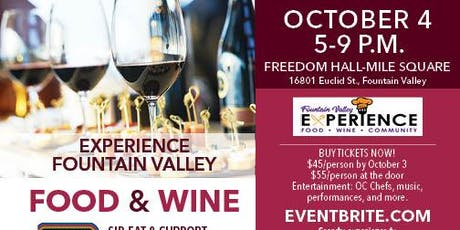 Experience Fountain Valley - Food & Wine tickets