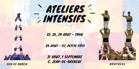 Ateliers intensifs des Castellers de Montréal - 2019 billets