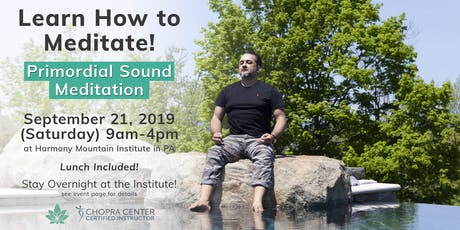 Lunch + Learn: Primordial Sound Meditation at Harmony Mountain Institute tickets