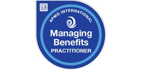 Managing Benefits Practitioner 2 Days Training in San Jose, CA tickets