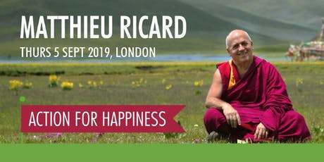 An evening with Matthieu Ricard tickets