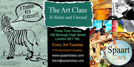Spaart Class - The Art Class to Relax and Unwind tickets