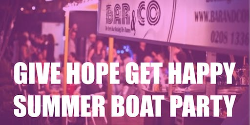 Give Hope Get Happy Summer Boat Party
