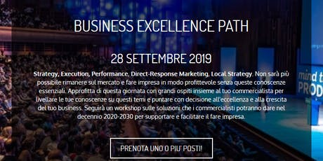 Business Excellence Path biglietti
