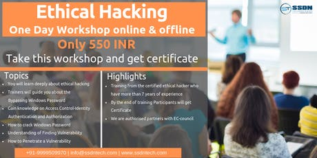 One Day Workshop on Ethical Hacking in Gurgaon tickets