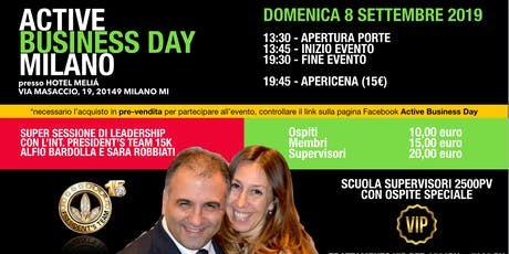 Active Business Day Milano - 8 Settembre 2019 tickets