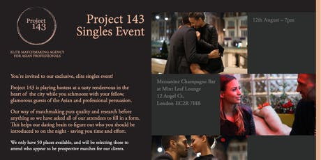 South Asian Singles Event at Mint Leaf tickets