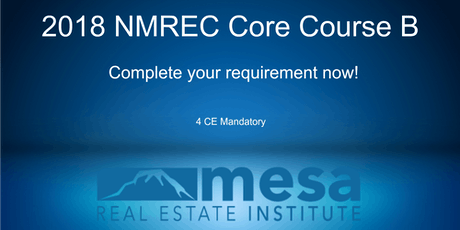 2018 NMREC Core Course B**Makeup Class** tickets