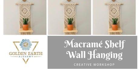 Macramé Shelf Wall Hanging Workshop tickets