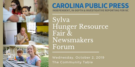 Sylva Hunger Resource Fair & Newsmakers Forum