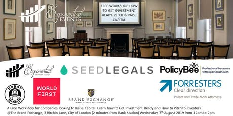 Free Company Workshops -Learn How to Get Investment Ready, Pitch & Raise Capital tickets