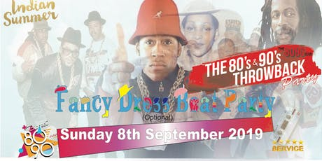 CLUB 8090 INDIAN SUMMER 80s & 90s FANCY DRESS THROWBACK LUXURY BOAT PARTY tickets
