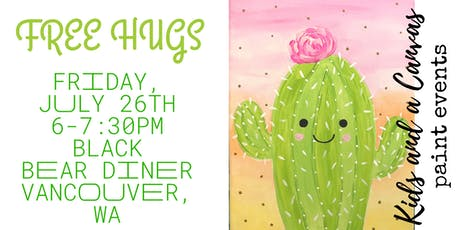 Kids and a Canvas Paint Night - FREE HUGS tickets