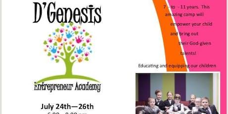 D' Genesis Entrepreneur Academy... for Kids! tickets