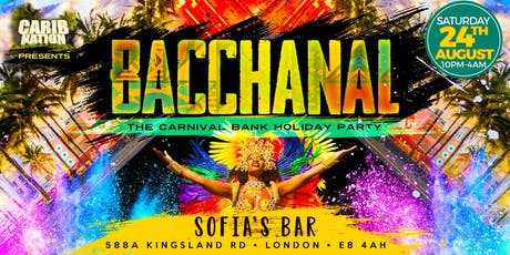 Bacchanal: The Carnival Bank Holiday Party tickets
