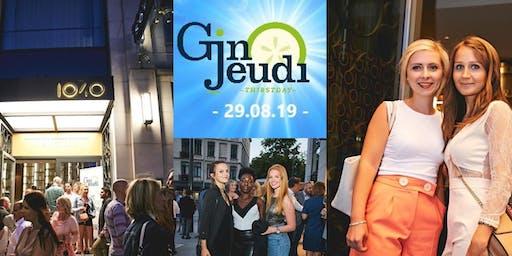 Gin Jeudi ☼ Stylish Afterwork ☼ Sofitel Brussels Europe