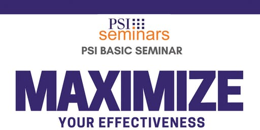 PSI Basic Seminar - DC November 2019