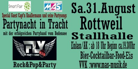Partynacht in Tracht mit Fly zur Smart Fair Messe Rottweil am 31.08.2019 Tickets