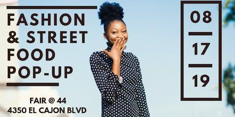 Fashion & Street Food Pop-Up tickets