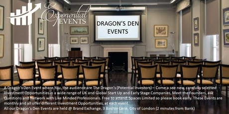 Exponential Dragon's Den & Investment Pitch Event November  tickets