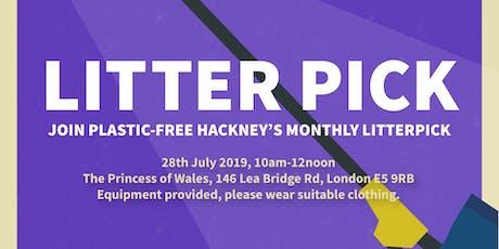 Plastic-Free Hackney's July Litter Pick tickets