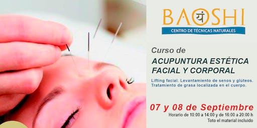 Curso de Acupuntura Estética Facial y Corporal SEPTIEMBRE