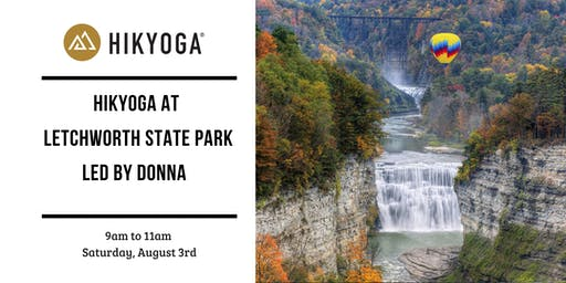 Hikyoga at Letchworth State Park with Donna